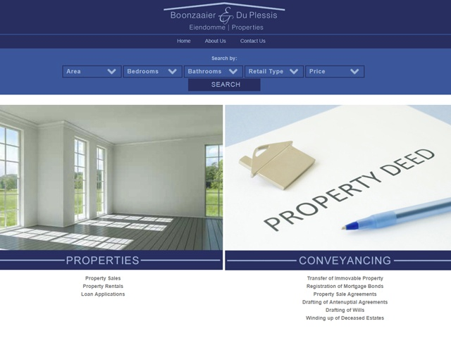 Website Designers Gallery - BD Properties Website Design