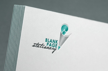 Logo Gallery - Blank Page Stationary Logo Design