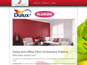 Website Designers Gallery - Exotic Paints Website Design