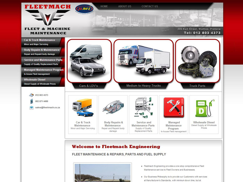 Website Designers Gallery - Fleetmach Website Design