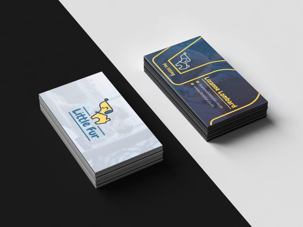 Little Fur Business Card Design Mockup