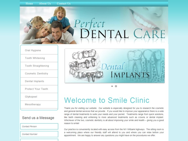Website Designers Gallery - Magic Dental Smile Website Design