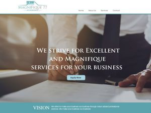 Website Designers Gallery - Magnifique 77 Accounting Website Design