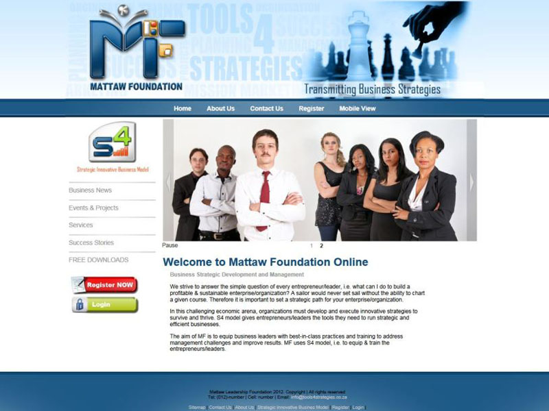 Website Designers  Gallery - Mattaw Foundation Website Design