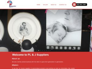 Website Designers Gallery - PLJ Suppliers Website Design