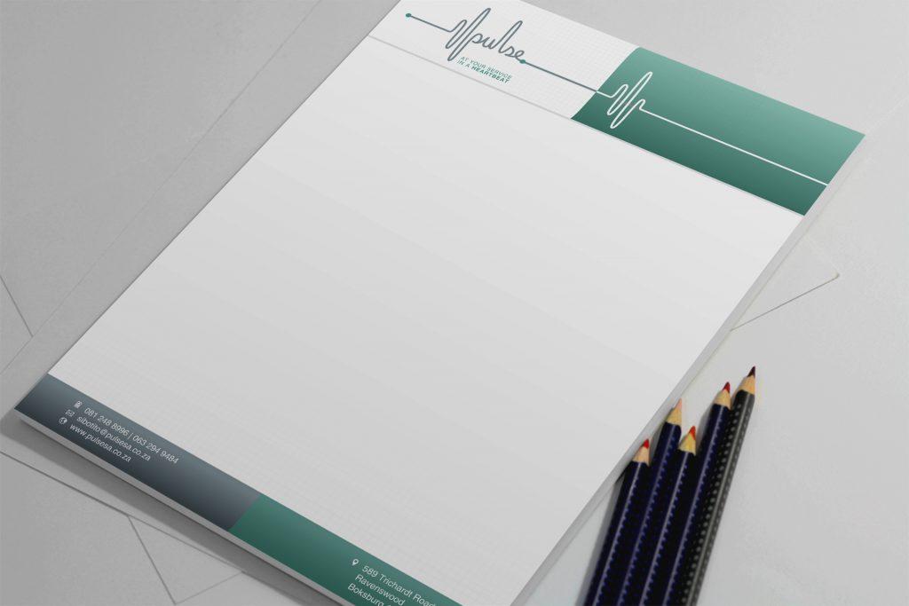 Branding Stationery-Letterhead Design- Pulse