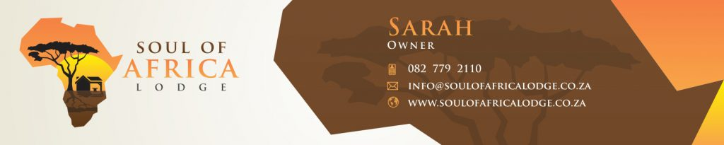 Branding Stationery-Email Signature Design- Soul of Africa
