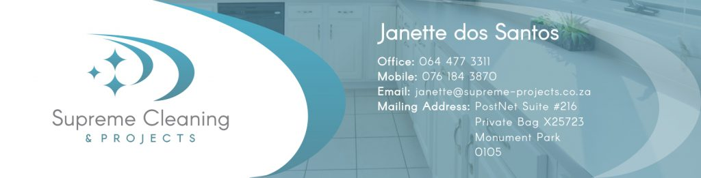 Branding Stationery-Email Signature Design- Supreme Cleaning and Projects