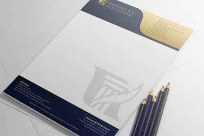 Machaka Law Letterhead Design Mockup