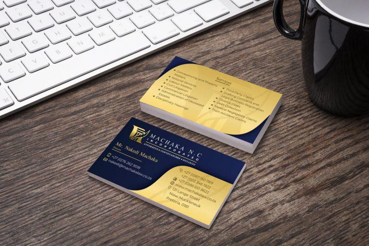 Machaka Law Business Card Design Mockup
