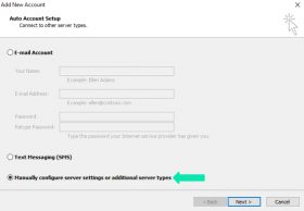 Manually Select Configuration