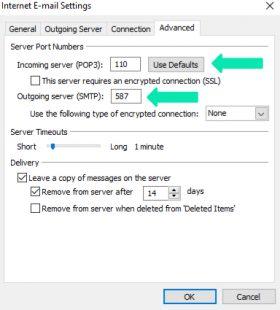 Configure Port numbers