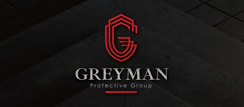 Greyman Protective Group Logo Design Mockup