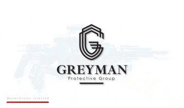 Grreyman Protective Group Logo Design - Monochrome