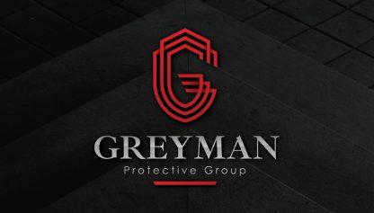 Greyman Protective Group Business Card Design Front