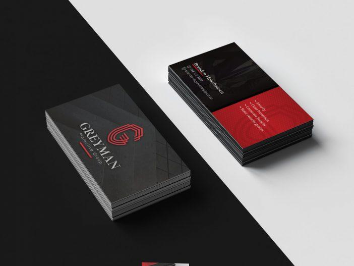 Greyman Protective Group Business Card Design - Mockup