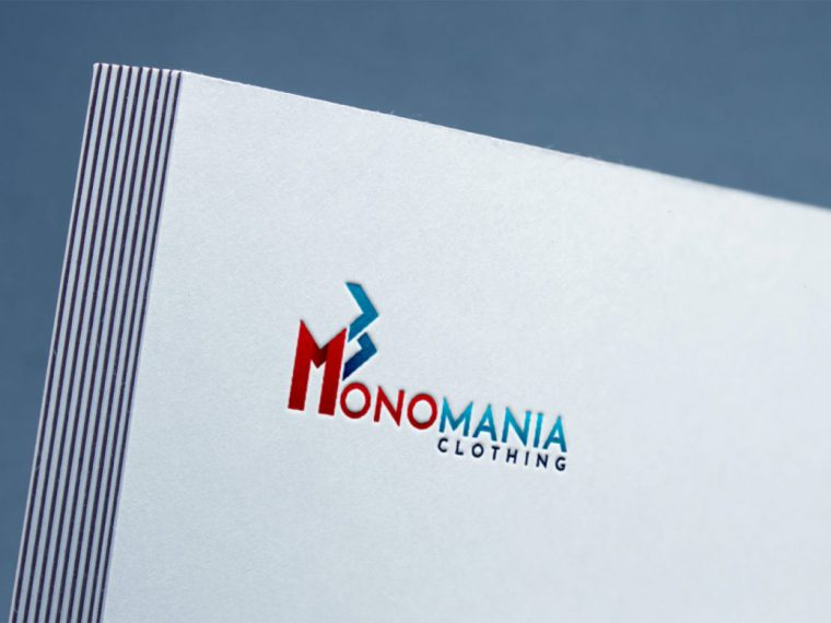 Monomania Logo Design- Mockup