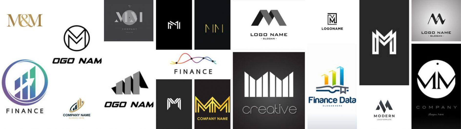 M and M Chartered Accountants Logo Design Moodboard