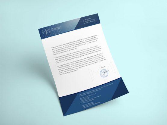 MMCA Letterhead Design Mockup