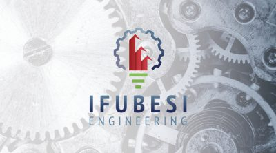Ifubesi Engineering Business Card Design Front