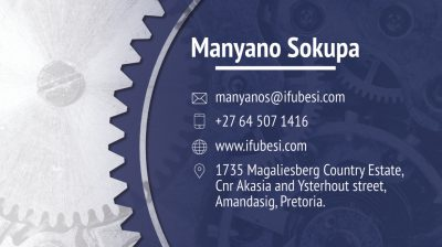 Ifubesi Engineering Business Card Design Back