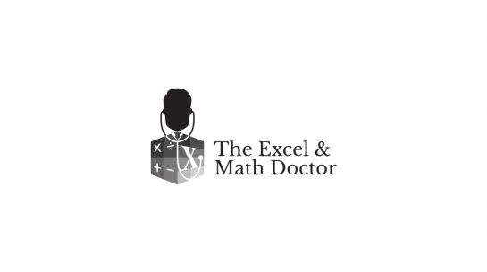 Excel and Math Logo Design Draft 1.3 Monochrome