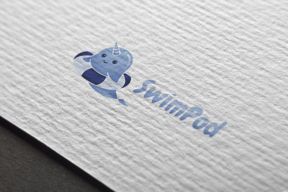 Swimpod Logo Design Draft 1.1 Mockup