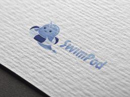 Swimpod Logo Design Mockup