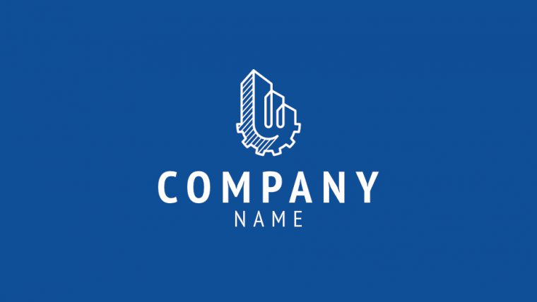 Brand Box 4 Logo Design Monochrome Inverted