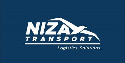 Niza Transport Logo Design Monochrome Inverted