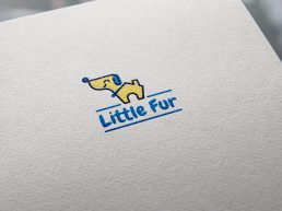 Little Fur Logo Design Mockup