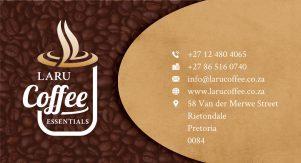 LaRu Coffee Business Card Design Front