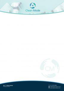 Clean Mode Letterhead Design
