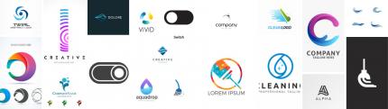 Clean Mode Logo Design Mood Board