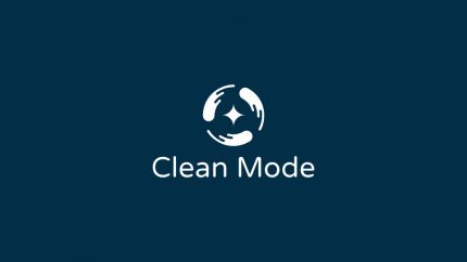 Clean Mode Logo Design Draft 1.1 Monochrome Inverted