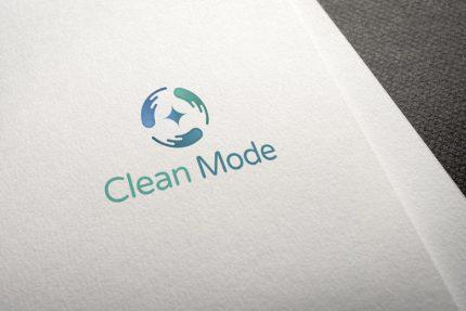 Clean Mode Logo Design Draft 1.1 Mockup