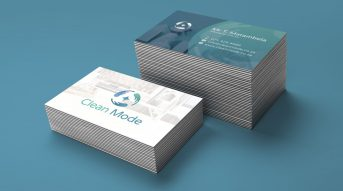 Clean Mode Brand Identity Design - Business Card Design Mockup