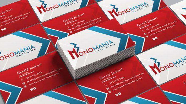 Monomania Business Card Design Mockup