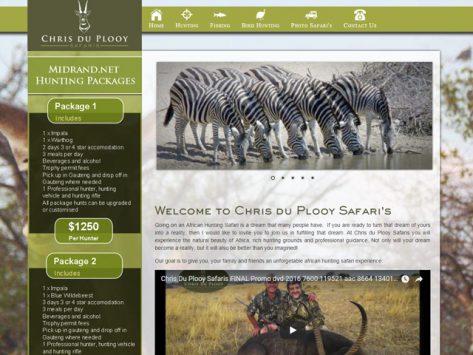 Website Gallery - Chris du Plooy Safaris Website Design