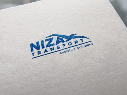 Niza Transport Logo Design Mockup
