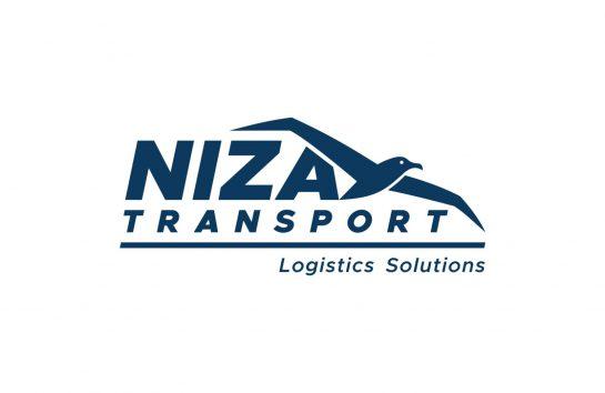 Niza Transport Logo Design Monochrome