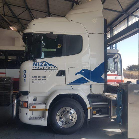 Niza Transport Logo Design Branding Front