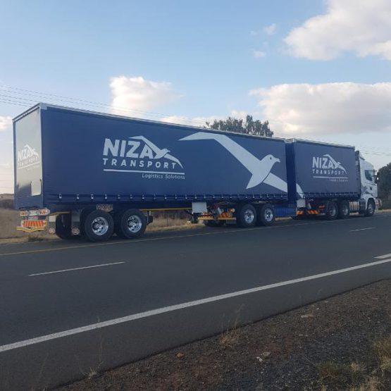 Niza Transport Logo Branding Side
