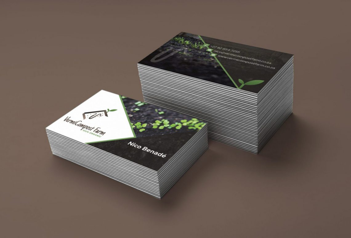 Vermicompost Business Card Design Mockup
