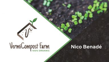 Vermicompost Business Card Design Front