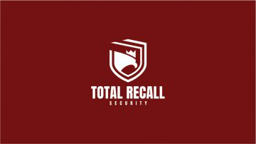 Total Recall Security Logo Design Draft 1.2 - MONOCHROME INVERTED