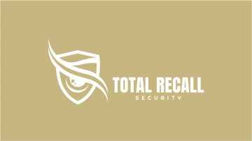 Total Recall Security Logo Design Draft 1.3 - MONOCHROME INVERTED