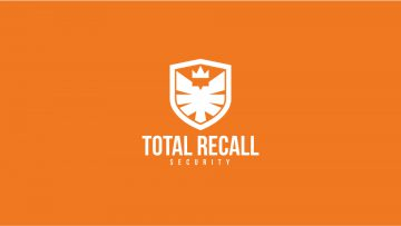 Total Recall Security Logo Design Draft 1.1 - MONOCHROME INVERTED