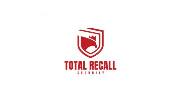 Total Recall Security Logo Design Draft 1.2 - MONOCHROME