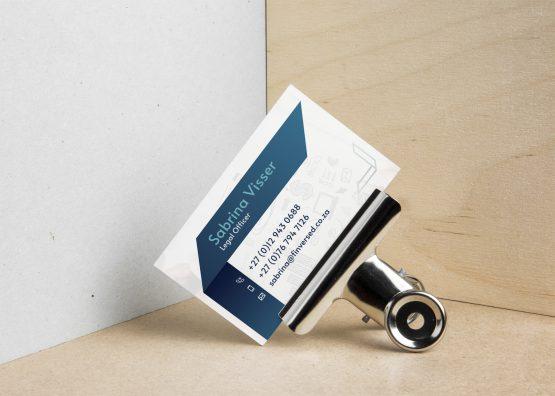 Finversed Business Card Design Mockup - Back